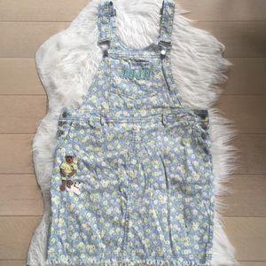 💖Juju family denim embroidered overall dress